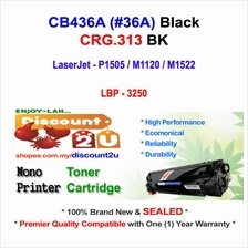 HP CB436A 36A P1505 M1522 CRG 313 Toner Compatible * NEW SEALED *HP CB