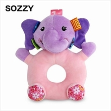 SOZZY CARTOON ANIMAL BABY SOFT PLUSH HANDBELL TOY (COLORMIX)