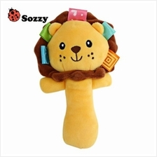 SOZZY CUTE CARTOON PLUSH BABY HANDBELL TOY (COLORMIX)