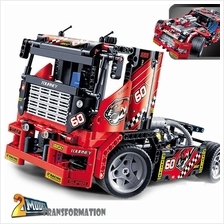 Decool 3360 RaceTruckCar 2In1 Transformable Technic BuildingBlock Sets