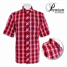 PREMIUM BIG SIZE Checked Fine Cotton Shirt PMP8191 (Red Navy)