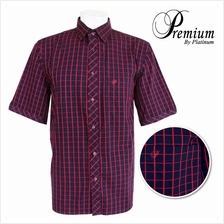 PREMIUM BIG SIZE Checked Shirt PMP8190 (Navy Red)
