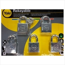 YALE Y118D/40/121/5 Chrome Plated Rekeyable Keyed Alike System Padlock