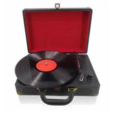 Suitcase Black Turntable LP Player with USB , SD Playing & Recording