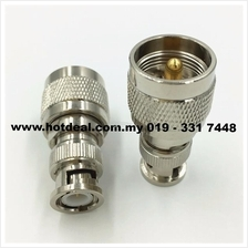 Connector uhf male to bnc female
