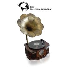 Vinyl Turntable LP Player Flower with Built-in Speaker, USB