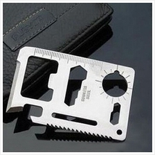 Portable Pocket Tools Card Knife 11 in 1 Camping Military