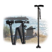 Foldable Magic Walking Cane with LED Light