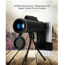 40x60 Monocular Telescope Zoom Optic Lens Binoculars Dual Focus Optic