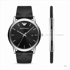 EMPORIO ARMANI AR80012 Men's Silicone Watch & Bracelet Gift Box Set