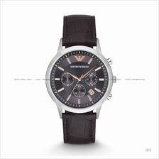 EMPORIO ARMANI AR2513 Men's Renato Chronograph Leather Strap Brown