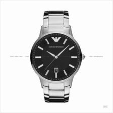 EMPORIO ARMANI AR2457 Men's Sportivo 3-hand Date SS Bracelet Black
