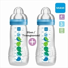 MAM Easy Active Baby Bottle 330ml Twin Pack with Teat Size 3 (B733)