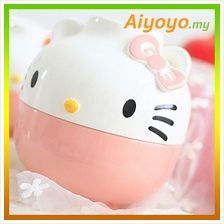 16CM PINK Hello Kitty Bowl Set Kt Cute Cartoon Rice Noodles Soup Plate