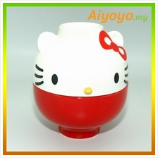 16CM RED Hello Kitty Bowl Set Kt Cute Cartoon Rice Noodles Soup Plate