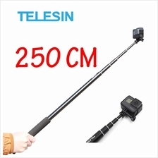 TELESIN Super Long 98 inch Aluminum Alloy Selfie Stick 2.5m 250cm
