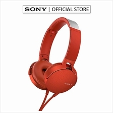 SONY MDR-XB550AP EXTRA BASS HEADPHONES RED (SONY MALAYSIA WARRANTY))