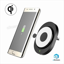 CR168 Qi Wireless Air Vent Car Mount Holder Charger for Samsung S8 S7 Ege G3 G
