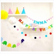 Reusable Party Decorations letter banner / Happy Birthday banner
