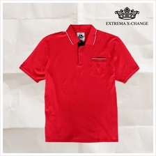 EXTREMA BIG  & TALL Lycra Polo Tee EXP2272 (Red)