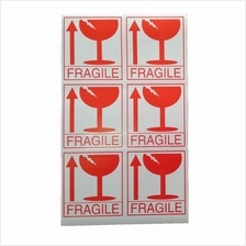 Fragile Sticker 288pcs 8cm x 9cm For Courier Bag Boxes