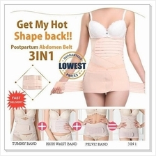Bengkung Moden Postpartum Abdomen Belt 3 Pcs In 1 Set