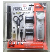 Professional ProClipper Cordless Rechargeable Hair Clipper 7 Piece Set