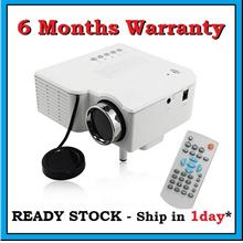 [ 6 Months Warranty ] UC28+ HDMI VGA SD USB LED Mini Projector