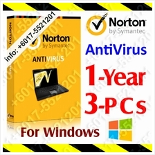 NORTON AntiVirus 1 YEAR 3PC anti virus windows Internet Security Syman