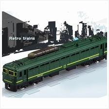 Die-cast BKK-004 Shijiazhuang Retro Train 6 inch Green Color Model Col