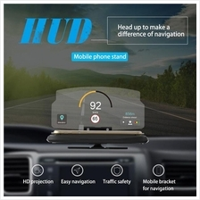6' Screen Car GPS Navigation HUD Head Up Display Projector Phone