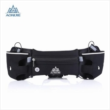AONIJIE OUTDOOR SPORTS WALKING RUNNING WAIST BAG BELT PACK (BLACK)