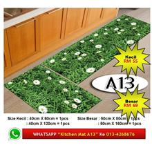 "Alas Kaki Dapur Kitchen Floor Matt Carpet Design ""RUMPUT SEGAR"" Fresh"