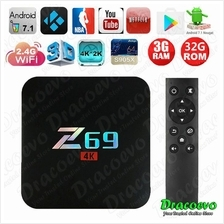 Z69 Android 7.1 Smart TV Box Amlogic 3GB 32GB S905X Penta Core