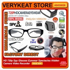HD 720p Spy Glasses Eyewear Spectacles Hidden Camera Video Recorder