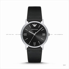 EMPORIO ARMANI AR11013 Men's Dress Watch 3-hand Leather Strap Black