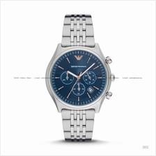 EMPORIO ARMANI AR1974 Men's Dress Chronograph SS Bracelet Blue