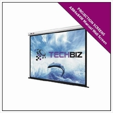 KWC77 84' x 84' Projection Screens Manual Wall Screen (Pull-Down)
