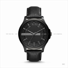 A|X ARMANI EXCHANGE AX2400 Men's 3-hand Date Leather Strap All Black