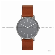 SKAGEN SKW6429 Men's Signatur 2-hand Slim Titanium Case Leather Brown