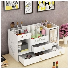 Tabletop Dressing Box with Mirror Skincare Storage Makeup Organizer