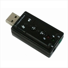 VIRTUAL 7.1 CHANNEL USB 2.0 SOUND CARD ADAPTER DONGLE