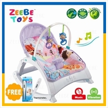 ZEEBE Baby Rocker Bouncer New Born Toddler Music Chair Safety Belt 07