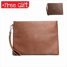 MEN Leather Purse Wallet Pouch Clutch Sling Bag Business Handbag 140 3bbb0aa457