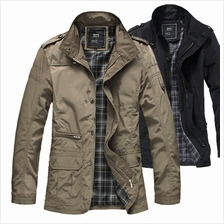 DOLLYPOODY Smart Plus Size 4 Seasons Men Cotton Jacket (2 Colours)