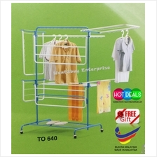 8 Way Super Extra Indoor Outdoor Anti-Rust Clothes Tower Hanger Rack