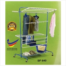 4 Way Super Extra Indoor Outdoor Anti-Rust Clothes Tower Hanger Rack
