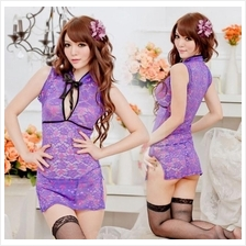 Lace Cheongsam Chinese Costume Sexy. Lingerie Sleepwear C013 (2 colour