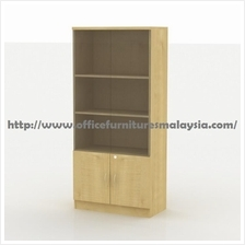 Office Filling Bookcase Cabinet With Glass Doors OFEM1670-4