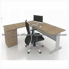 6ft x 6ft Office Manager Desk Table JLO1818 Meja Pengarah Subang USJ